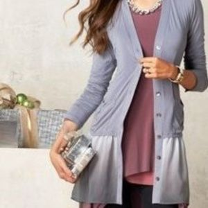Logo Knit Cardigan Ombre Gray